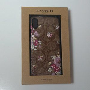 Coach Case with Floral Print for iPhone XS/X